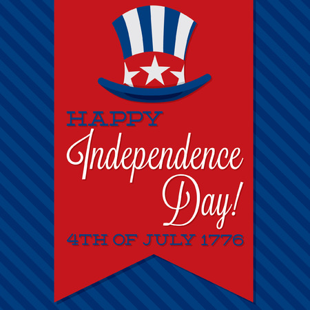 presidents day: Retro ribbon Independence Day card in vector format