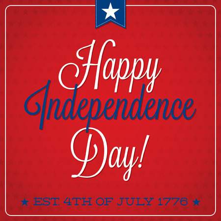 presidents day: Independence Day typographic card in vector format  Illustration