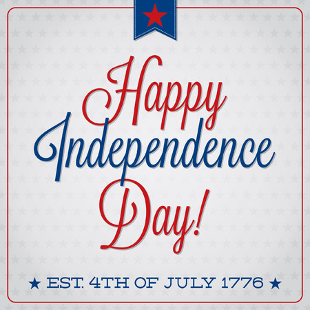 Independence Day typographic card in vector format  Vector