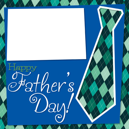 Father s Day cut out tie card in vector format  Illustration