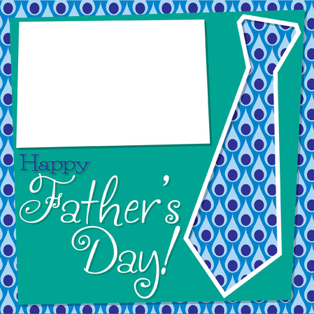 Father s Day cut out tie card in vector format  Vector