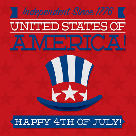 presidents day: Independence Day card in vector format