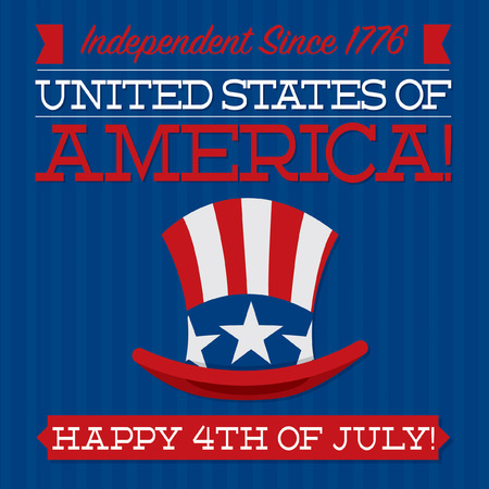 Independence Day card in vector format  Vector