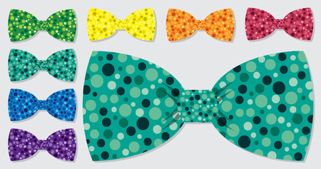 Bubble bow tie set in vector format  Vector
