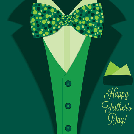 father s day: Father s Day bow tie tuxedo card in vector format  Illustration