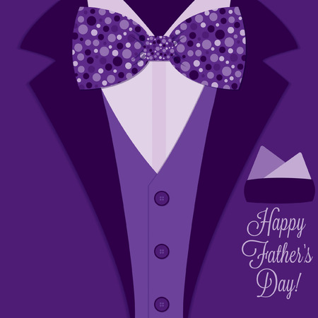 neck tie: Father s Day bow tie tuxedo card in vector format  Illustration