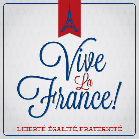 Vive La France  Bastille Day card  Illustration