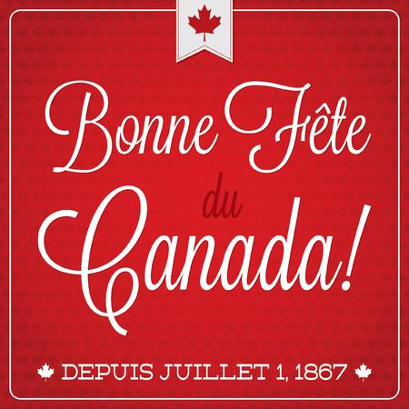 Happy Canada Day retro card in vector format