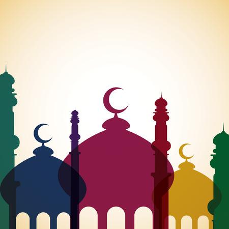 quran: Mosque card in vector format  Illustration