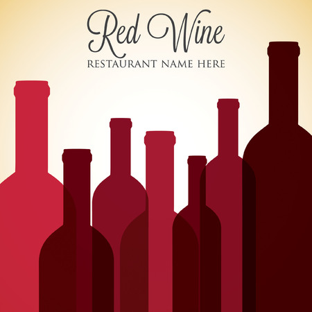 Red wine list menu cover in vector format. Vector