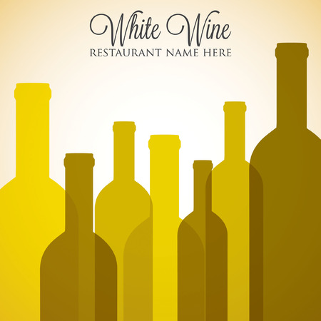 blanc: White wine list menu cover in vector format. Illustration