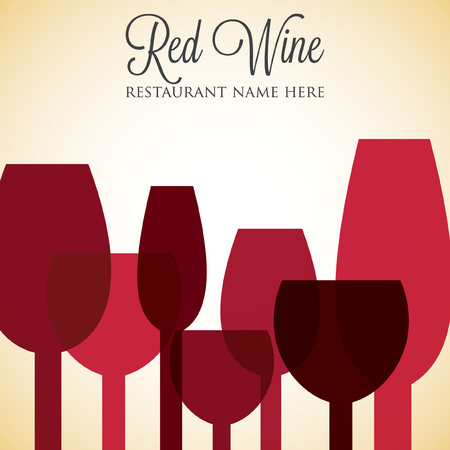 blanc: Red wine list menu cover in vector format.