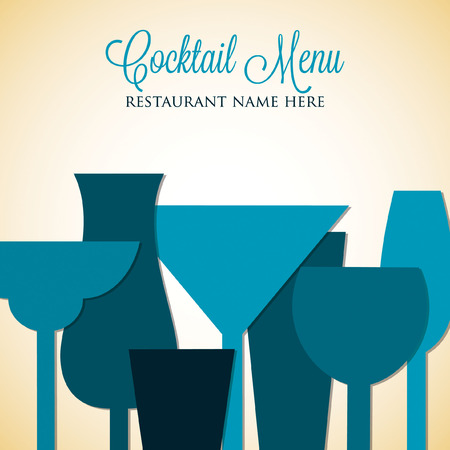 colada: Retro overlay cocktail card in vector format.