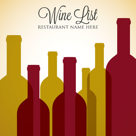 blanc: Red and white wine list menu cover in vector format. Illustration