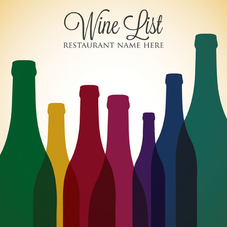 blanc: Bright wine list menu cover in vector format.