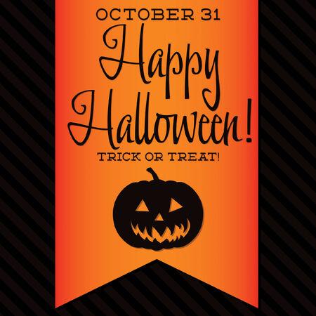 jack o' lantern: Jack O\ Lantern Halloween sash card