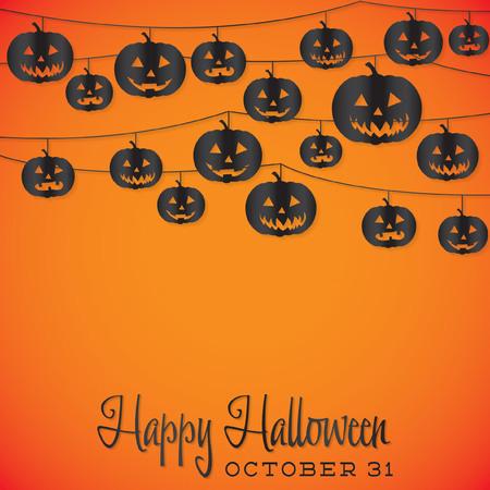 String Halloween card in vector format. Vector