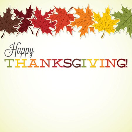 thanksgiving day greetings: Maple leaf Thanksgiving card in vector format.