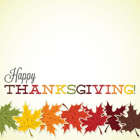 Feuille d'érable carte Thanksgiving en format vectoriel. Banque d'images - 33744852