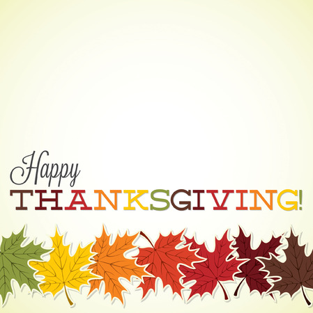 Maple leaf Thanksgiving card in vector format.