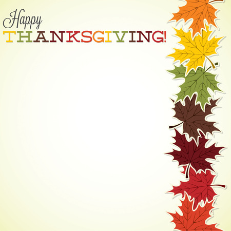 Maple leaf Thanksgiving card in vector format. Vector