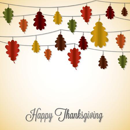 Elegant string Thanksgiving card in vector format. Illustration