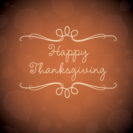 Happy Thanksgiving card in vector format. Vector