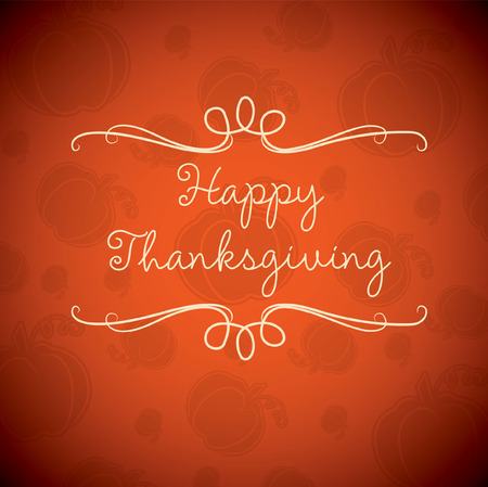 Happy Thanksgiving Karte im Vektorformat. Standard-Bild - 33744888