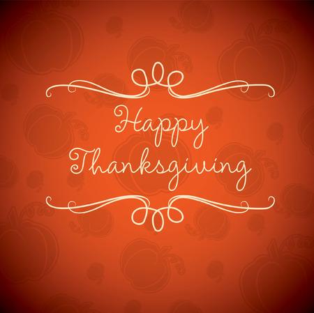 agradecimiento: Tarjeta de acción de gracias feliz en formato vectorial.