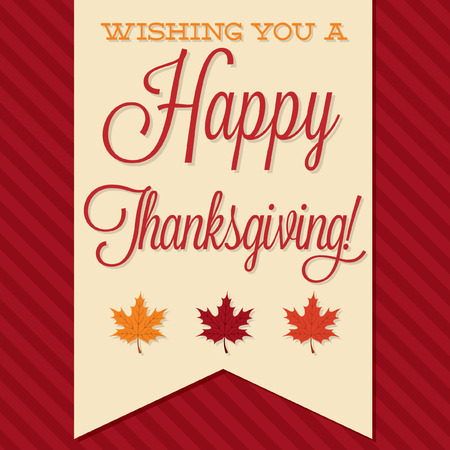 Sash Happy Thanksgiving card in vector format. Фото со стока - 33744912