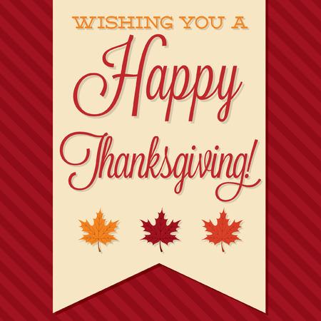 Sash Happy Thanksgiving card in vector format.