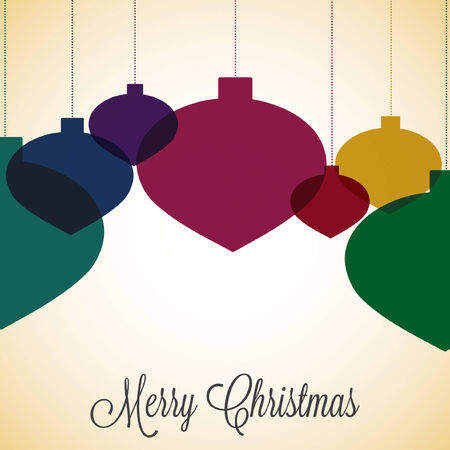 nakładki: Retro overlay Christmas bauble in vector format.