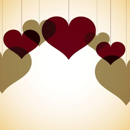 an overlay: Tarjeta de los corazones de superposici�n