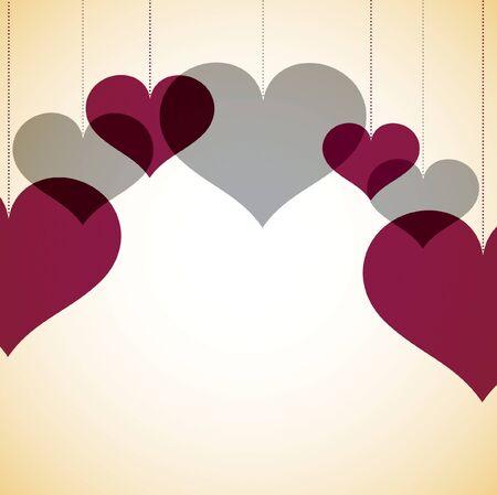 nakładki: Karta nakładki serca Ilustracja