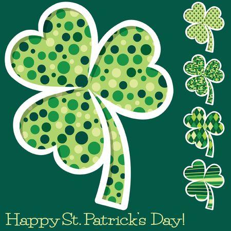shamrocks: Retro St. Patricks Day shamrocks Illustration
