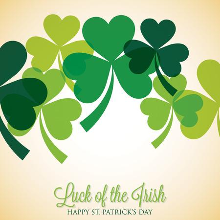 シャムロック聖 Patrick の日カードの重複