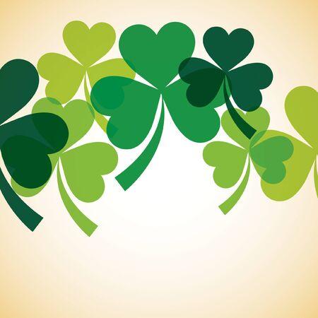 fourleaf: Overlapping shamrock St Patricks Day card
