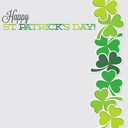 shamrocks: Line of shamrocks St. Patricks Day card