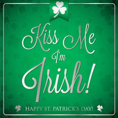 four fourleaf: St. Patricks Day typographic card