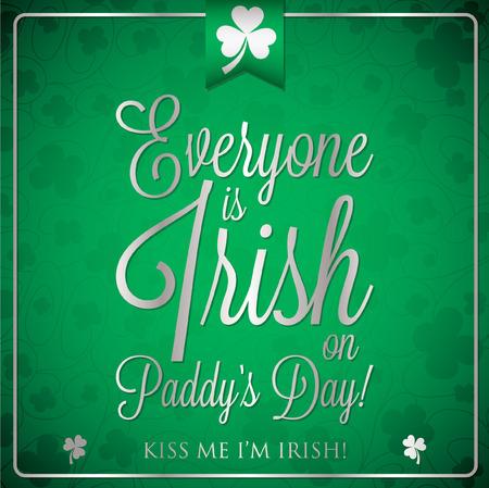 St. Patricks Day typographic card