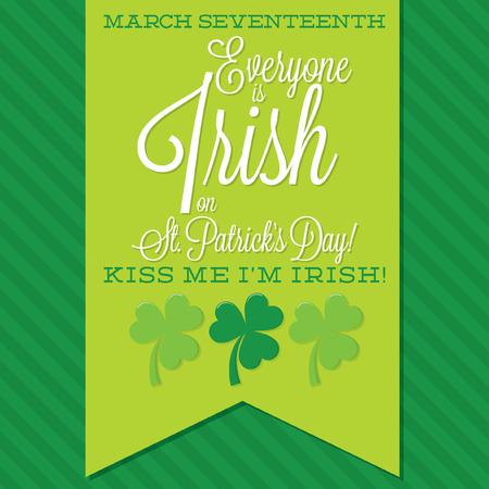 sash: St. Patricks Day sash card