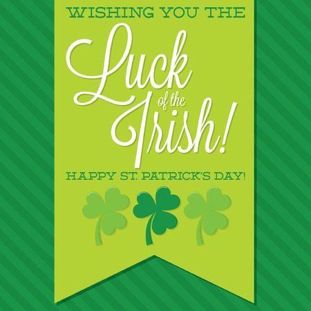 sash: St. Patricks Day sash card in vector format.