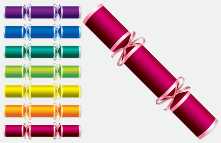 christmas dinner party: Bright retro Christmas crackers