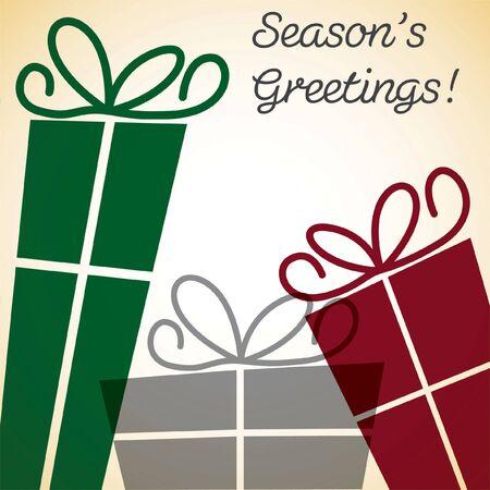 overlay: Christmas present overlay card Illustration
