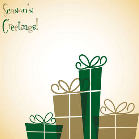 Christmas present overlay card in vector format Vector