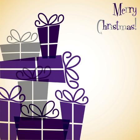 mauve: Christmas present overlay card Illustration