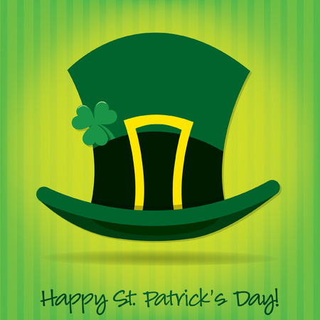 leprechaun's hat: Leprechauns hat St Patricks Day card