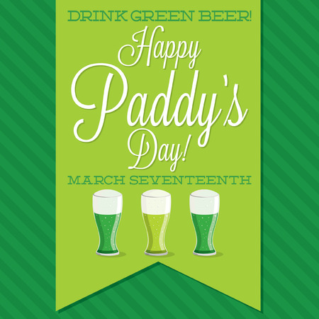 fourleaf: St. Patricks Day sash card in vector format.