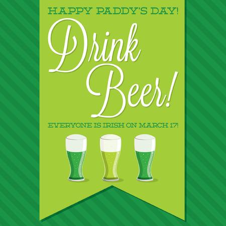 St. Patricks Day sash card