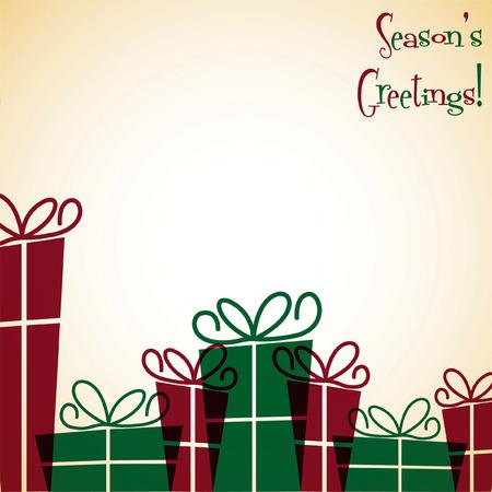 nakładki: Christmas present overlay card Ilustracja